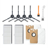 10pcs Replacements for Xiaomi Viomi S9 Vacuum Cleaner Parts Accessories Side Brushes*4 HEPA Filters*2 Dust Bags*2 Cleaning Tools*2 [Non-Original]