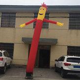 3m / 6mインフレータブル広告チューブマンエアSkyダンスパペット旗ワッキーウォーター風の男の装飾