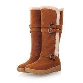 Taille US 5-12 Femmes Doublure en fourrure d'hiver Gardez les bottes de neige mi-mollet chaudes