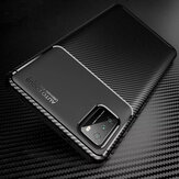 Bakeey for POCO M3 Case Luxury Carbon Fiber Pattern Shockproof Silicone Protective Case