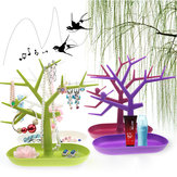 Tree Shaped Jewelry Display Rack Earring Ring Pendant Holder Folding Rack for Cosmetic Makeup Organizer