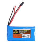 ZOP POWER 7,4 V 1500mAh 20C 2S Lipo Batterie SM-Stecker für RC-Car