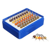Drillpro 50 pcs 0.25-0.45mm Tungsten Carbide Micro PCB Bor Bit Set untuk Papan Sirkuit PCB