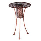 Table d'appoint LED Table de bistrot de jardin solaire Silhouette extérieure Finition bronze clair Blanc chaud