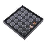 25pcs Пустой черный Nail Boxes Контейнер Rhinestone сухих цветов хранения контента Sponge ювелирные изделия