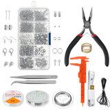 Pulseira de colar faça você mesmo Brincos Conjunto de ferramentas para fazer joias e artesanato de reparo feito à mão