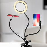Flexible Arm Stepless Dimmable 3 Color Modes 10X LED Magnifying Lamp with Clamp