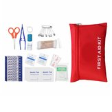 13Pcs First-Aid Kit SOS Emergency Camping Survival First Aid Alcohol Pad Band
