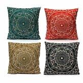 Taie d'oreiller décorative de style nordique Housse de coussin en coton lin Textile de maison
