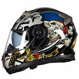 GXT 160 Flip Up Motor Helm Full Face Lensa Ganda Casco Racing Capacete
