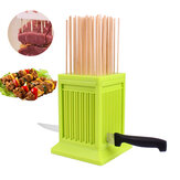 49 Holes BBQ Kebab Maker Meat Skewer Box Barbecue Machine Grill Barbecue Tools Camping Picnic