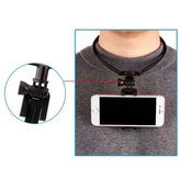 BIKIGHT Universal Phone Holder Hanging Neck Phone Holder Neck Self Clamp Mount Holder Self Timer Mobile Phone Stand