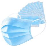 20 sztuk 3 warstwy maska na twarz włóknina przeciwpyłowa składana maska oddechowa maska ochronna filtr maska oddechowa maska ochrona zdrowia