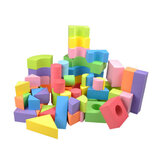 50Pcs Soft Lightweight EVA Foam Assembled Bricks DIY Model Creative Building Blocks Kids Educational Toys