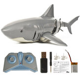 T11B 2.4G 4CH Electric RC Boat Simulation Shark Animal RTR Model Toys Colore grigio