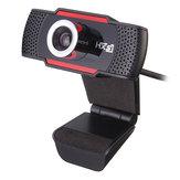 Oryginalny HXSJ S30 Składany 720P HD Kamera internetowa Kamera komputerowa z dźwiękoszczelnym mikrofonem Mikrofon
