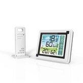 YUIHome WP6950 433 MHz Écran tactile extérieur intérieur Station météo sans fil Couleur LCD HTN Affichage IPX4 Hygromètre Thermomètre Extérieure Capteur Prévisions Horloge