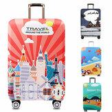 Chủ đề du lịch Honana Vỏ bọc hành lý đàn hồi Vỏ xe đẩy Vỏ bảo vệ vali bền cho 18-32 inch Vỏ phụ kiện du lịch ấm áp