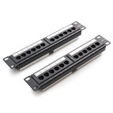 Staffa a parete per rack di rete Ethernet a 12 porte Cat6 Cat5 RJ45 Pannello patch
