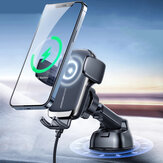 JOYROOM JR-ZS248 15W Qi Wireless Car Charger Air Vent/ Dashboard/ CD Mount Bracket Fast Charging Phone Holder Stand for POCO X3 F3 4.5 inch-6.7 inch Devices