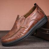 ZapatosdeCueroOxfordCómodosde Microfibra para Hombres de Gran Tamaño