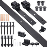 Sliding Barn Single Wood Door Hardware Roller Track Kit Antique Style