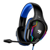 Bakeey A80 Wired Game Headset Surround Sound Bass Gaming Koptelefoon Ruisonderdrukking LED-licht Stereo Over-ear koptelefoon met microfoon