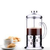 Roestvrijstalen glazen theepot Cafetiere Franse Koffie Thee Filter Perspomp