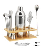 14Pcs Stainless Steel Cocktail Shaker Set Bar Mixer Drink Bartender Tool Home