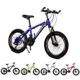 KAIMATE 20 Inch 21 Speed Children Mountain Bike 40-Blades Wheels Front and Rear Disc Brakes Bicycle Kids Riding MTB Bicycle
