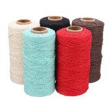 5 kolorów 2mm naturalnej bawełny skręcona lina lina makrama pościel juta diy pleciony drut rzemiosło 100yd