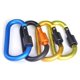 1 PCS 8CM Locking D Shape Buckle Quickdraw Extender Aluminum Keychain Metal Buckle Hanging Nut