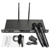 WEISRE U-6002 Wireless Dual Microphone System for KTV Karaoke Stage Meeting