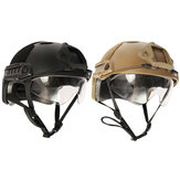 Tactical Airsoft Paintball SWAT War Game Protective Fast Helmet with Goggle