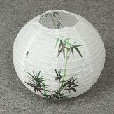 35CM Chinese Bamboo Round Paper Lantern Lampshade Oriental Home Decoration