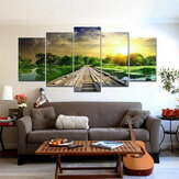 5Pcs Modern Art Print Lake Landscape Poster Canvas Painting Home Wall Decor