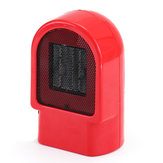 Red Mini Heater Small Desktop Heater Electric Heater Portable Winter Warmer Fan Camping Heating Device