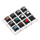12 Key Cherry Switch Keyboard Switch Tester with Acrylic Base and Clear Keycaps