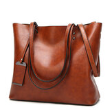 Dames Oil Leather Tote Handtassen Vintage schoudertassen