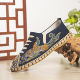 Men Canvas Breathable Hand Stitching Comfy Old Peking Casual Linen Shoes