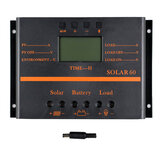 60A Solar Panel Charge Controller 12V 24V Auto LCD USB Solar Battery Charger High Efficiency Solar 60 PWM Regulator