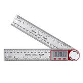 0-200/300/500 мм из нержавеющей стали Цифровой измеритель угла Инклинометр Угол Цифровая линейка Электронный гониометр Угломер Угловой искател