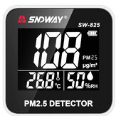 SNDWAY SW-825 Digital Air Quality Monitor Laser PM2.5 Detector Gas Temperature Humidity Monitor