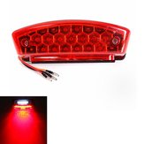 Universele 12V LED Motorcycle Tail Brake Light License Plate Lamp