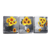 30*30*3 cm Sunflower Wall Art Painting Living Room Bedroom Hanging Canvas Pictures Office Mural Decoration Supplies