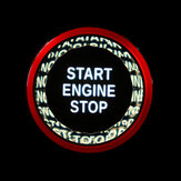 Crystal Start Button Start Stop Engine Switch Button Cover For Jaguar