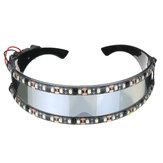LED Motosiklet Gözlükler Cosplay Tatil Dekorasyon Cadılar Bayramı Hediye Festivali Gece Kulübü Sahne Sahne