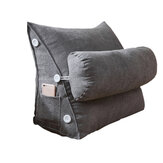 Adjustable Back Wedge Cushion Soft Reading Back Support Pillow Triangle Back Cushion for Sofa Bed Office Chair Rest