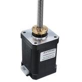 HANPOSE17HS6401-ST8x8Nema17atuadores lineares do motor de passo do parafuso de avanço 60mm 1.7A 73N.cm 4-lead 42 parafuso trapezoidal do motor 100-500mm de 100mm para a impressora 3D eixo Z