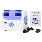 5/12 / 24V mini ventilateur de refroidissement 2 vitesses portable climatiseur refroidisseur voiture auto camion véhicule